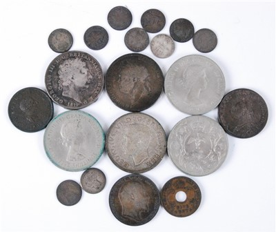 Lot 2085-Great Britain, a mixed lot of George III and later coins