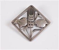 Lot 261 - A silver brooch by Arno Malinowski for Georg...