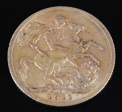 Lot 2052-Great Britain, 1911,  gold full sovereign