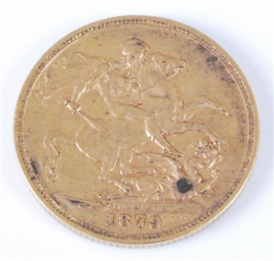 Lot 2053-Great Britain, 1879 gold full sovereign