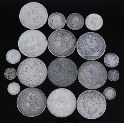 Lot 2083-Great Britain and World, a collection of George III and later silver coins to include