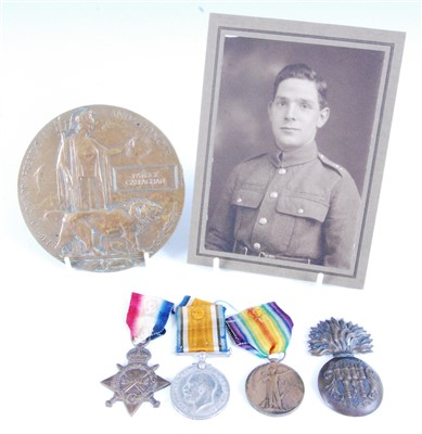 Lot 29 - A WW I Casualty group to include