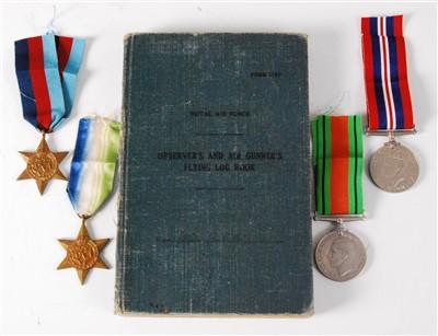 Lot 63-A WW II R.A.F. Coastal Command Observer's and Air Gunner's Flying Log Book