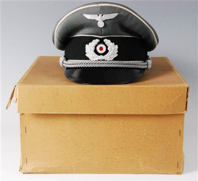 Lot 71-A German Wehrmacht Officer's peaked cap