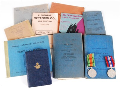 Lot 5-A WW II R.C.A.F. Flying Log Book