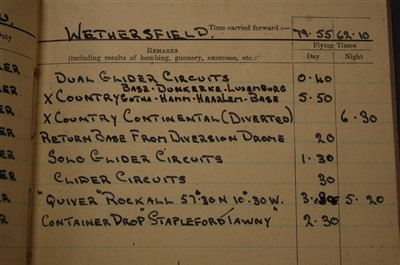 Lot 5-A WW II R.C.A.F. Flying Log Book