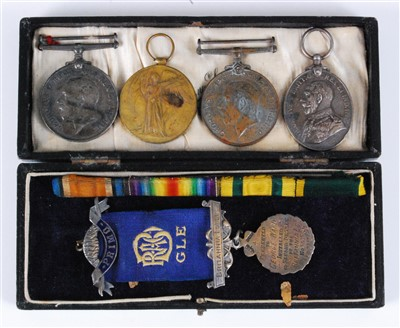 Lot 70-A Great War Territorial group of four