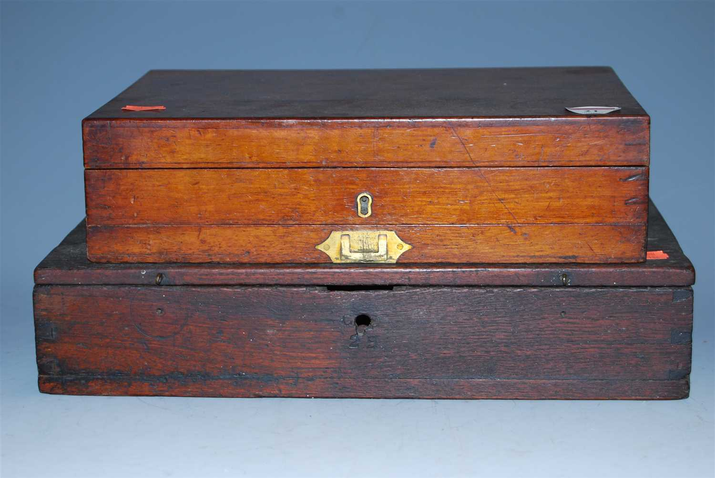 Lot 21-A Victorian mahogany artists box, having hinged...