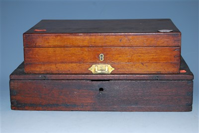 Lot 21-A Victorian mahogany artists box, having hinged...
