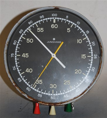 Lot 36-A Junghans German wall mounted stop clock, of...