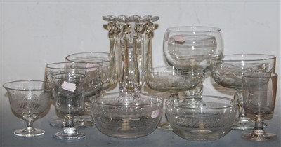 Lot 38-Two 19th century toasting glasses; together with...