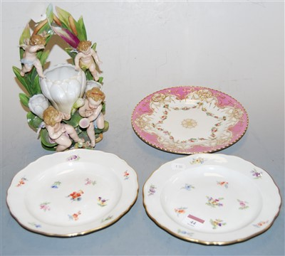 Lot 44-A pair of early 20th century Meissen porcelain...