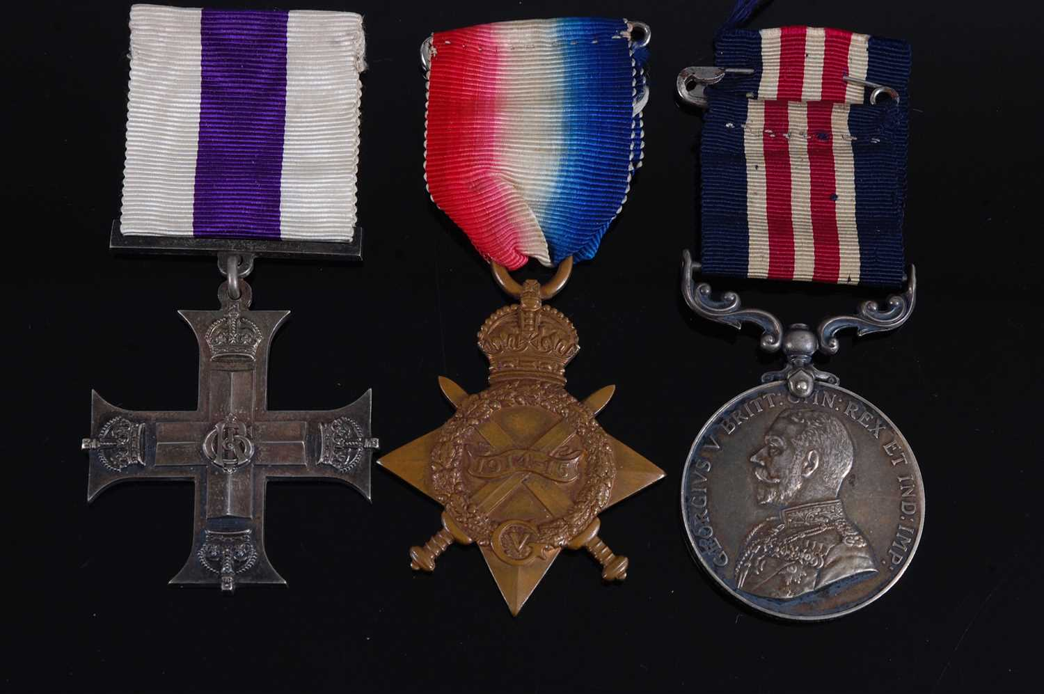 Lot 10-A George V Military Cross group of three