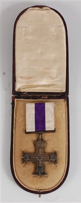 Lot 10 - A George V Military Cross group of three