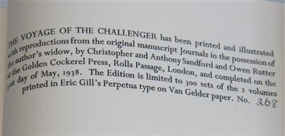 Lot 1007-SWIRE, Herbert, The Voyage of the Challenger…....