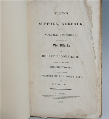 Lot 1011-BLOOMFIELD, Robert. Views in Suffolk, Norfolk and ...