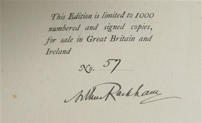 Lot 1014-SHAKESPEARE, William (illus Arthur RACKHAM). A...