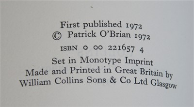 Lot 1017-O'BRIAN, Patrick. Post Captain. Collins, London,...