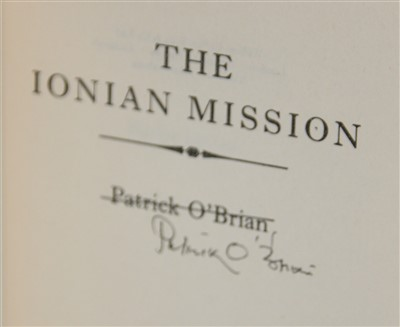 Lot 1019-O'BRIAN, Patrick. The Ionian Mission. Collins,...