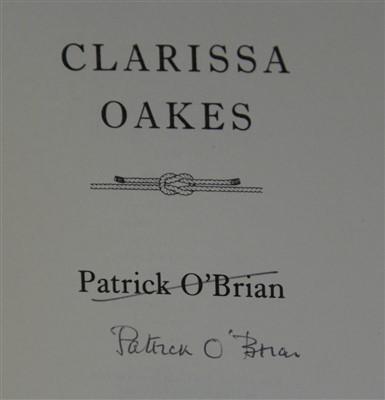 Lot 1021-O'BRIAN, Patrick. Clarissa Oakes. Harper Collins, ...