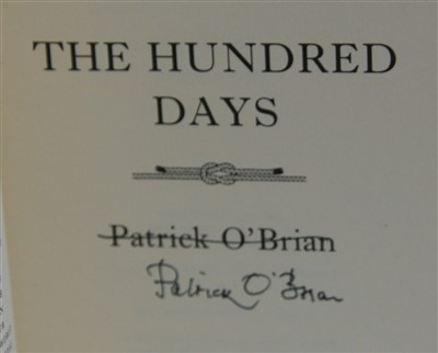 Lot 1024-O'BRIAN, Patrick. The Hundred Days. Harper...