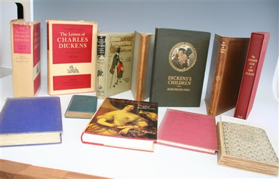Lot 1034-DICKENSIANA. One box of titles relating to the...