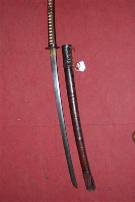 Lot 12 - A Japanese shin gunto katana