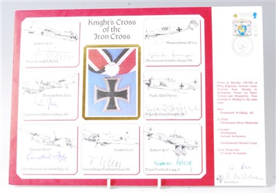 Lot 59-A DM cover of the Knight's Cross of the Iron Cross