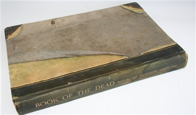 Lot 1045-BUDGE, E.A. Wallis, The Book of the Dead....