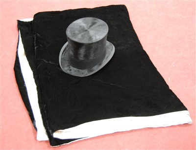Lot 2-An Edwardian brushed velvet top-hat, bearing a...