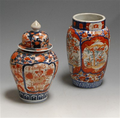 Lot 12-A Japanese late Meiji period Imari jar and...