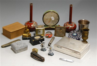 Lot 39-A box of miscellaneous items, to include pair...