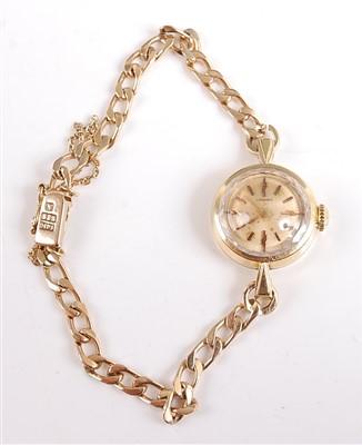 Lot 2505-A 14ct yellow gold lady's manual wind wristwatch, ...