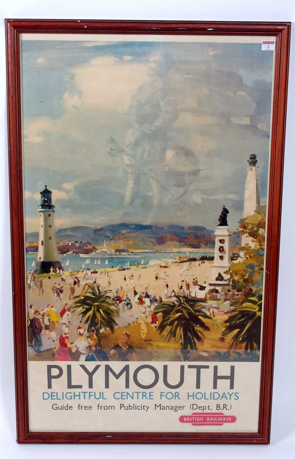 Lot 3-A BR Plymouth Double Royal railway poster...