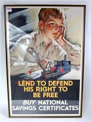 Lot 4-An original war time National Savings poster to...