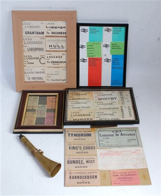 Lot 17-A collection of framed and glazed railway and...