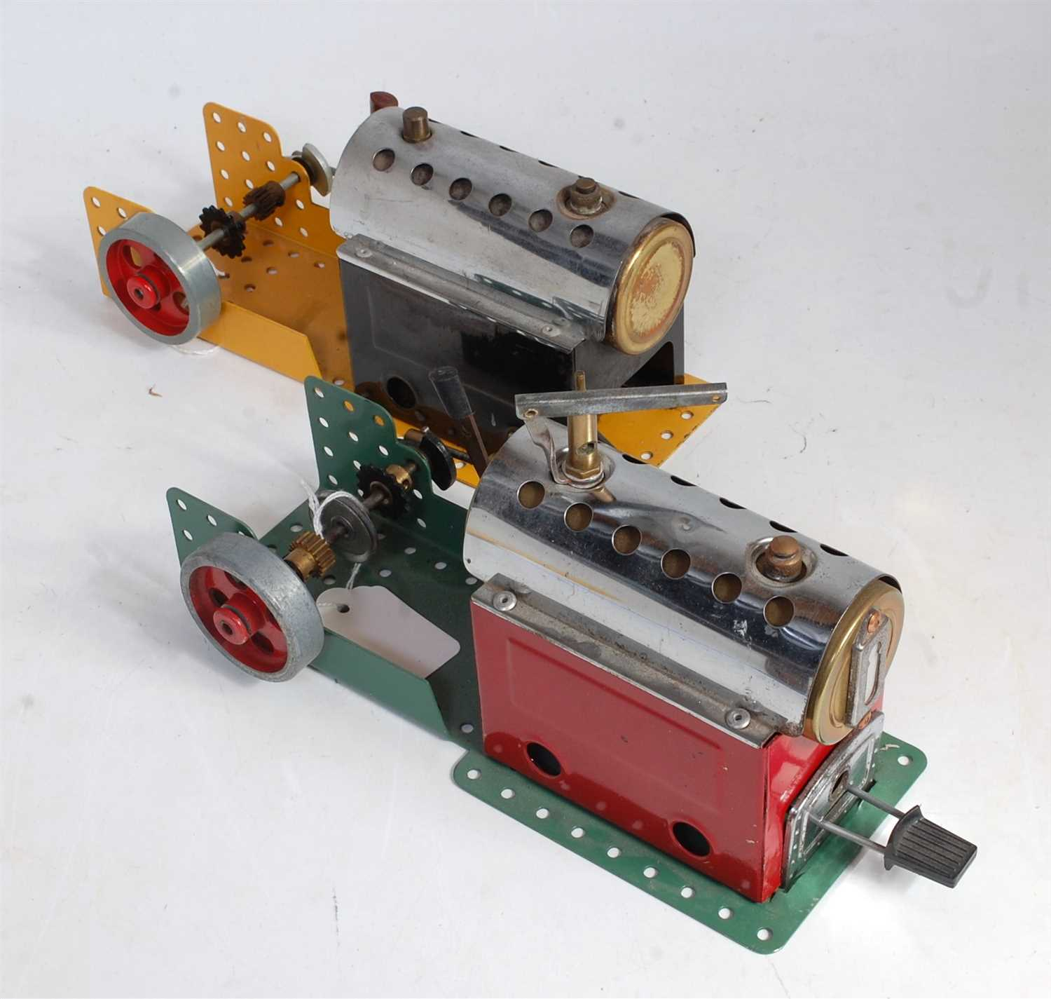 Lot 20-Two Meccano post-war steam plants comprising of...
