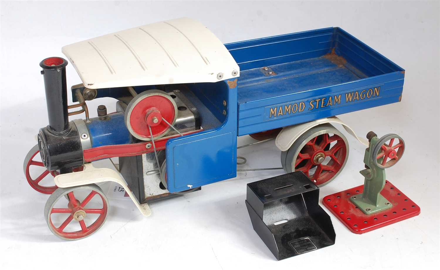 Lot 25-A loose Mamod SW1 steam wagon comprising of blue, ...
