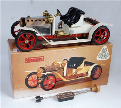 Lot 27-A Mamod steam roadster SA1 comprising white...