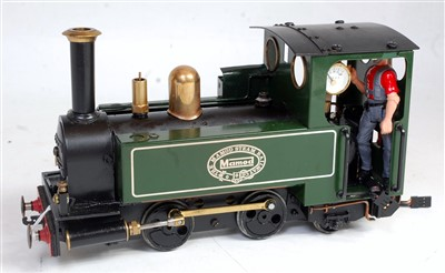 Lot 43-Mamod SL2 0-4-2 loco, green, converted to gas...
