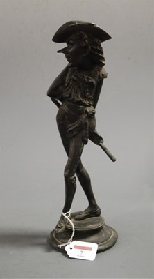 Lot 7-A late 19th century French spelter figural...