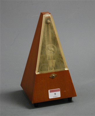 Lot 9-A 1960s French walnut metronome