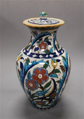 Lot 22-A 19th century continental tin glazed vase and...