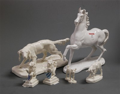 Lot 23-An Austrian blanc-de-chine figure of a horse in...