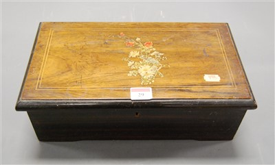 Lot 29 - A late 19th century Swiss rosewood cased music...
