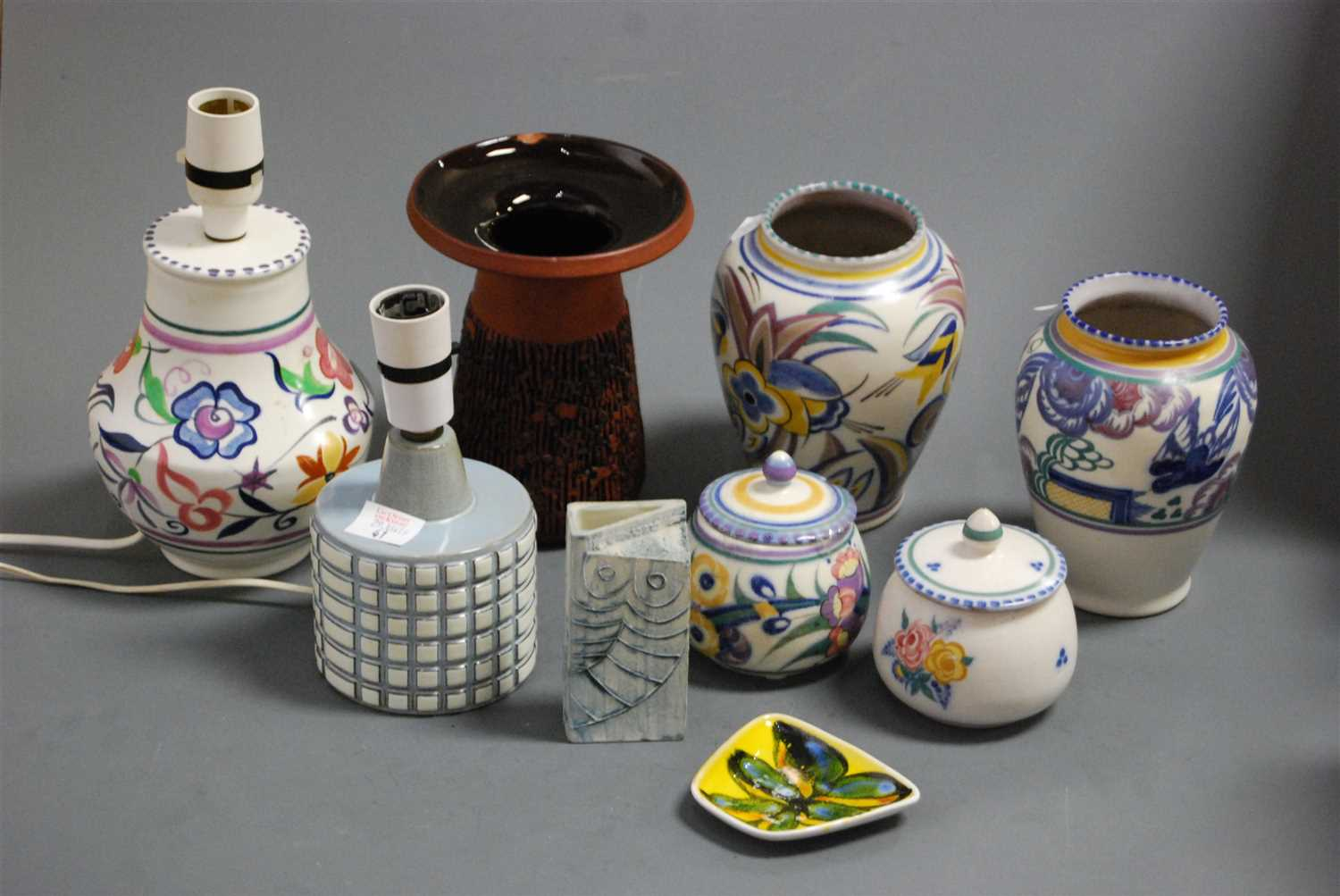 Lot 41-A box of miscellaneous Poole pottery to include...