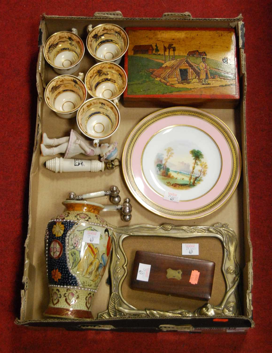 Lot 49-A box of miscellaneous items to include a...