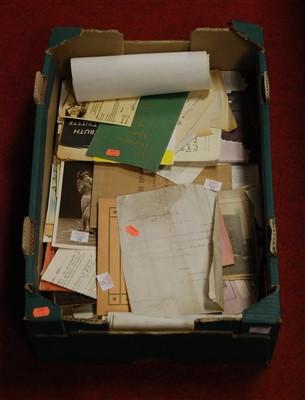Lot 53-A box of miscellaneous photographs and ephemera...