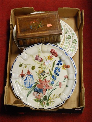 Lot 54 - A box of miscellaneous items to include walnut...