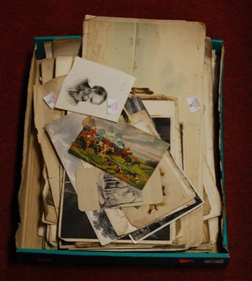 Lot 56 - A box of miscellaneous 19th century and later...